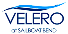 Velero at Sailboat Bend Logo