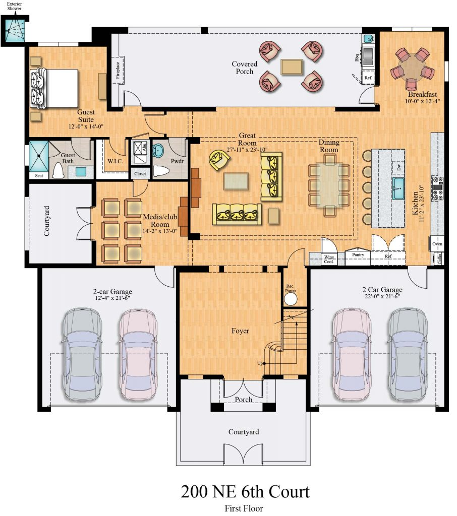 Floorplan of Villa Valle