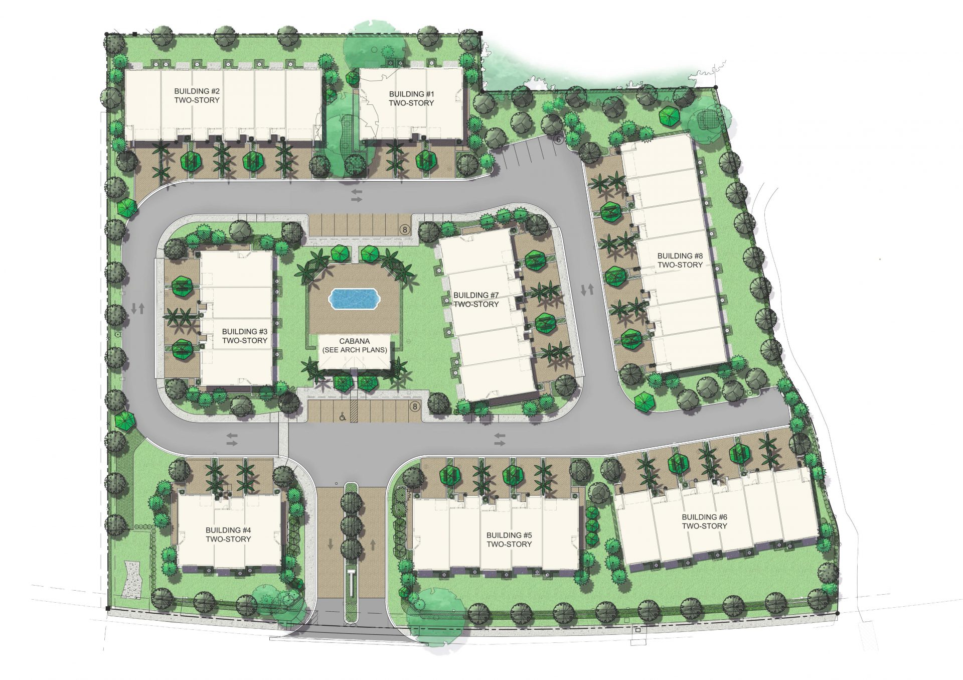 Siena at Palm Aire Siteplan